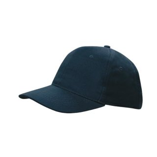 HEADWEAR  STRAPBACK CAP - BRUSHED COTTON MARINEBLAU - NAVY ONE SIZE