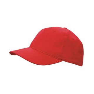 CAPSTADT STRAPBACK CAP - BRUSHED COTTON ROT - RED ONE SIZE