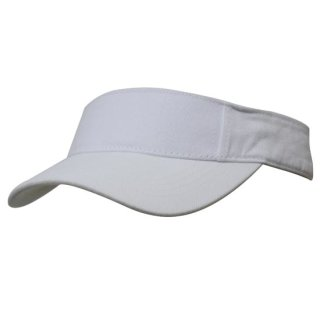 HEADWEAR  STRAPBACK  VISOR - BRUSHED HEAVY COTTON WEISS/WHITE EINHEITSGRÖSSE/ONE SIZE