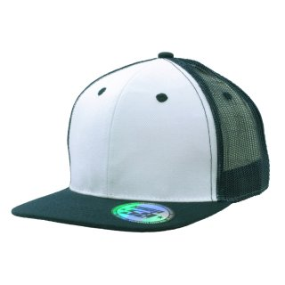 HEADWEAR  SNAPBACK PRO - 6 PANEL FLATCAP TRUCKER STYLE WEISS-MARINEBLAU / WHITE-NAVY