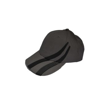 HEADWEAR  STRAPBACK CAP - BRUSHED HEAVY COTTON MIT REIFENSPUREN GRAU/SCHWARZ-CHARCOAL/BLACK